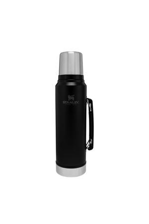 thermosfles 1 liter zwart