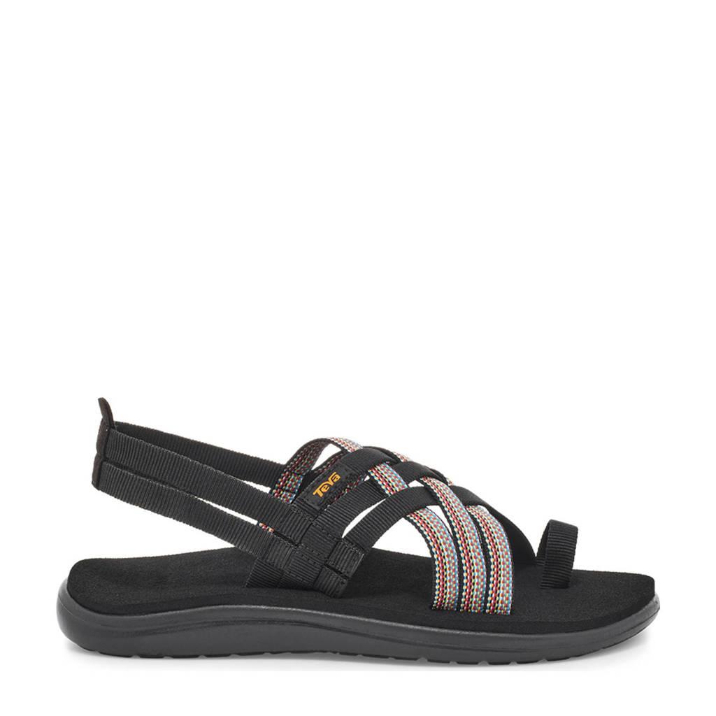 Teva  Voya Strappy outdoor sandalen zwart/multi, Zwart/multi