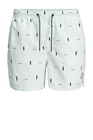 zwemshort Bali met all over print wit