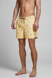 JACK & JONES JEANS INTELLIGENCE zwemshort Bali met ananas print lichtgeel, Lichtgeel