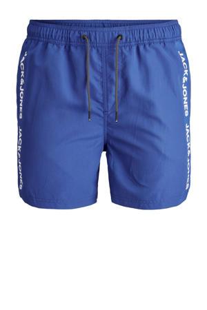 zwemshort Bali met logo blauw