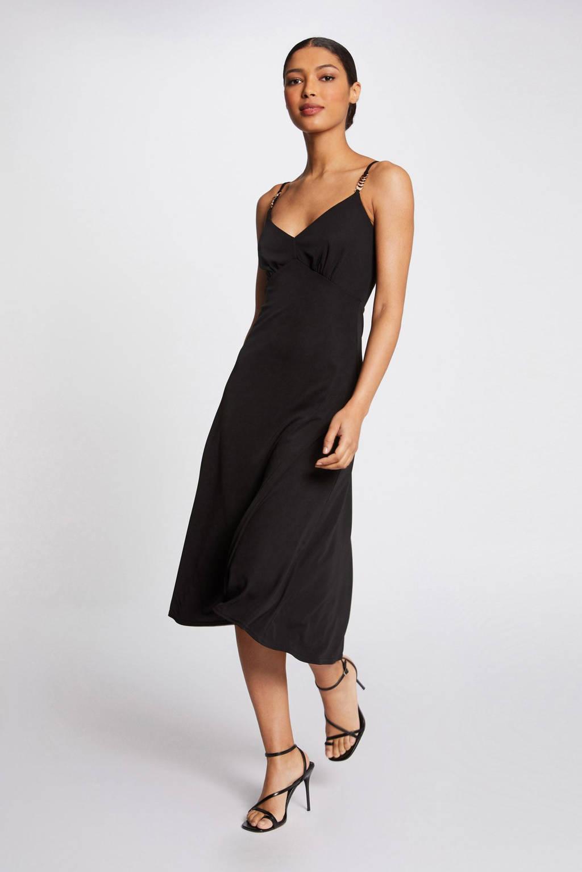 Morgan A-lijn jurk zwart, Zwart