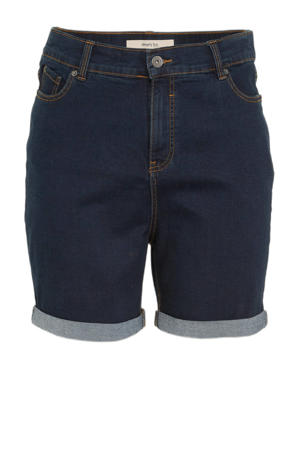 high waist jeans short 24/7 dark denim