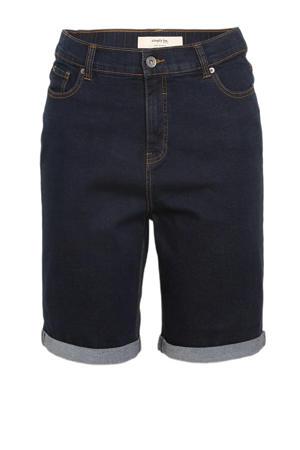 high waist jeans bermuda dark denim