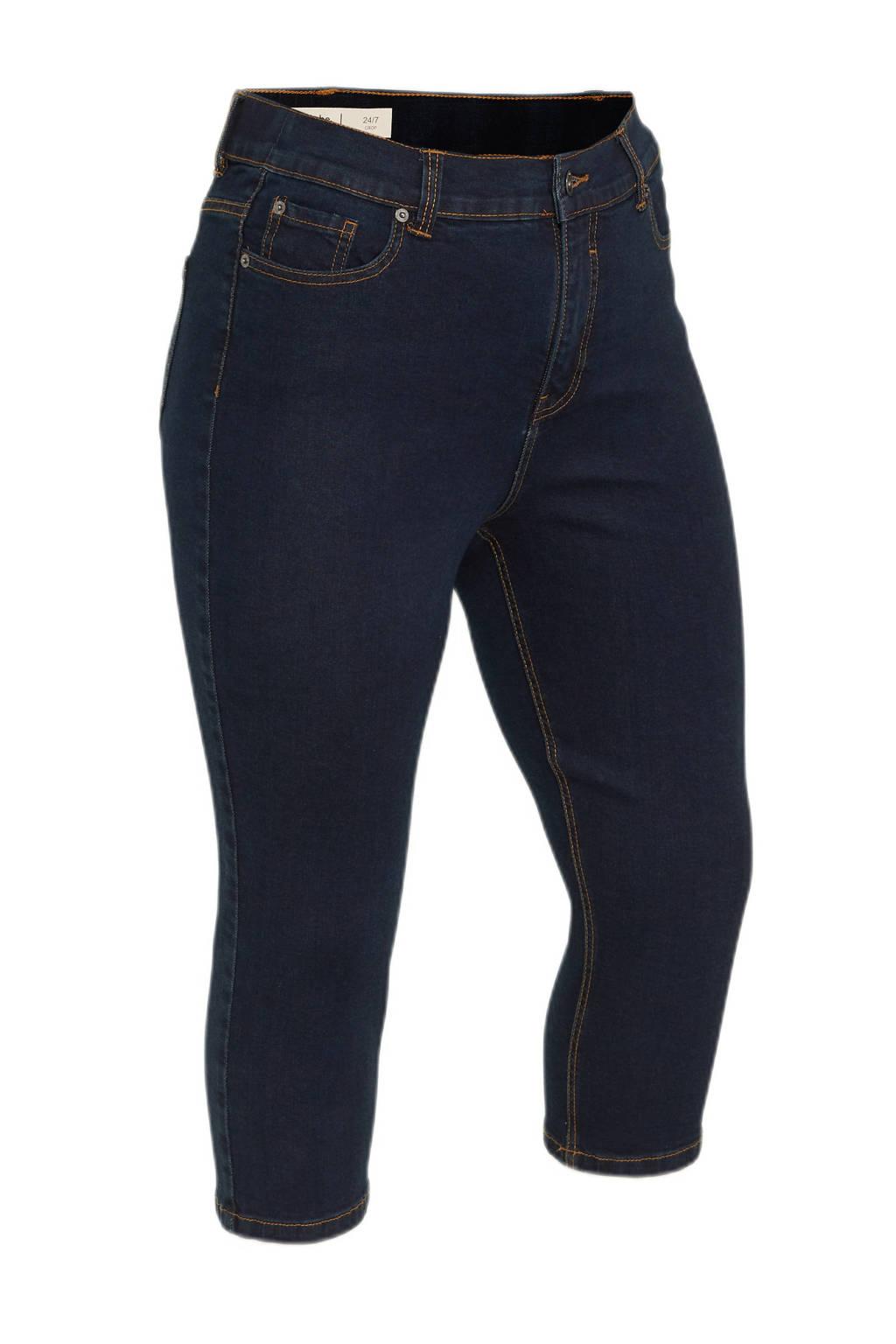 Simply Be high waist skinny capri jeans 24/7 dark denim, Dark denim