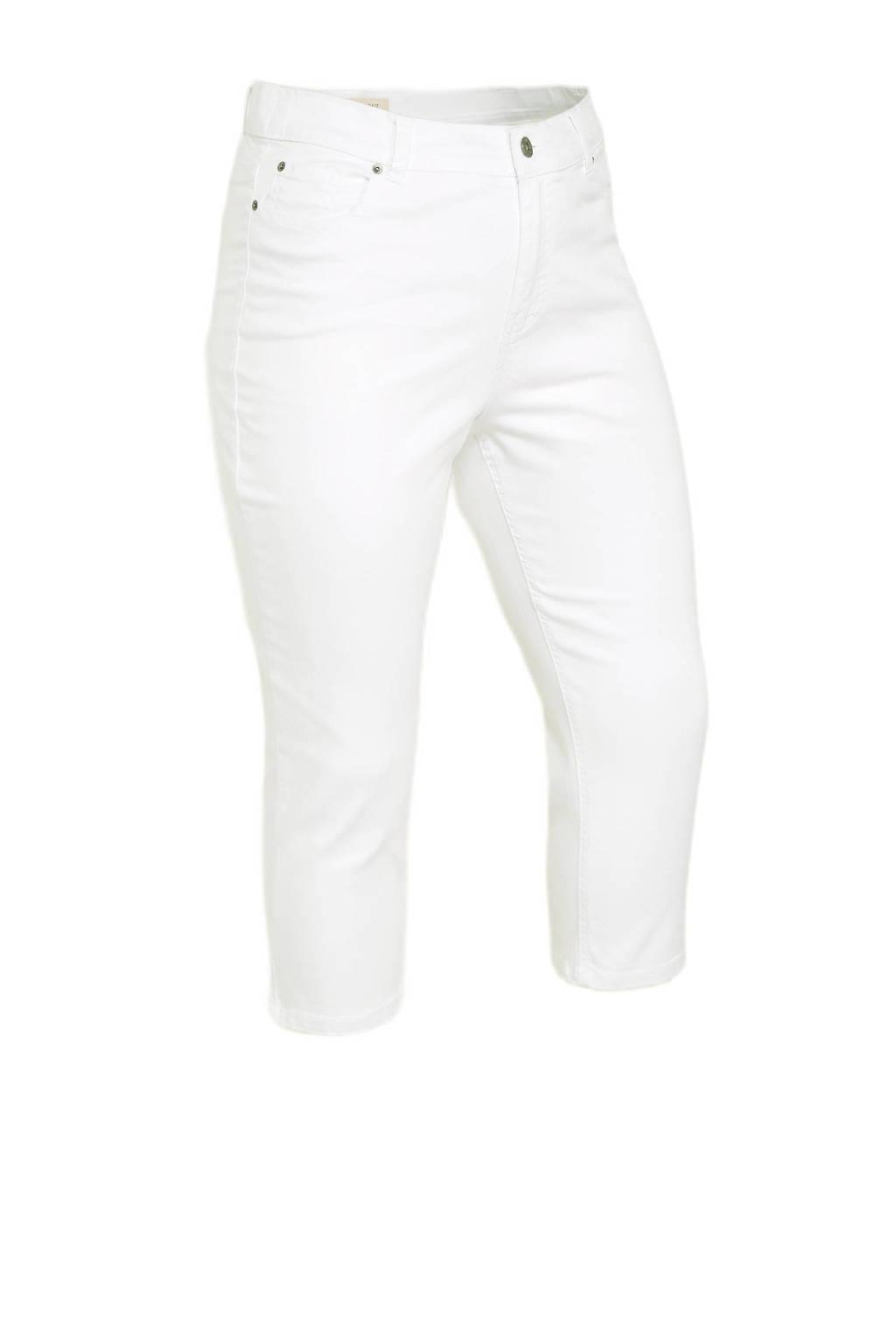 Simply Be high waist skinny capri jeans 24/7 wit, Wit