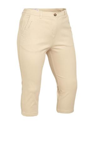 regular waist skinny fit chino capri beige