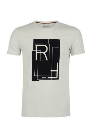 T-shirt Benja met printopdruk lichtgroen