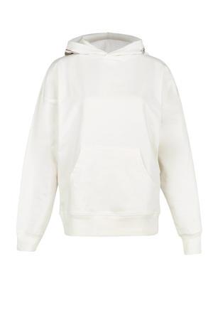 sport hoodie Yane ecru/bruin/zwart