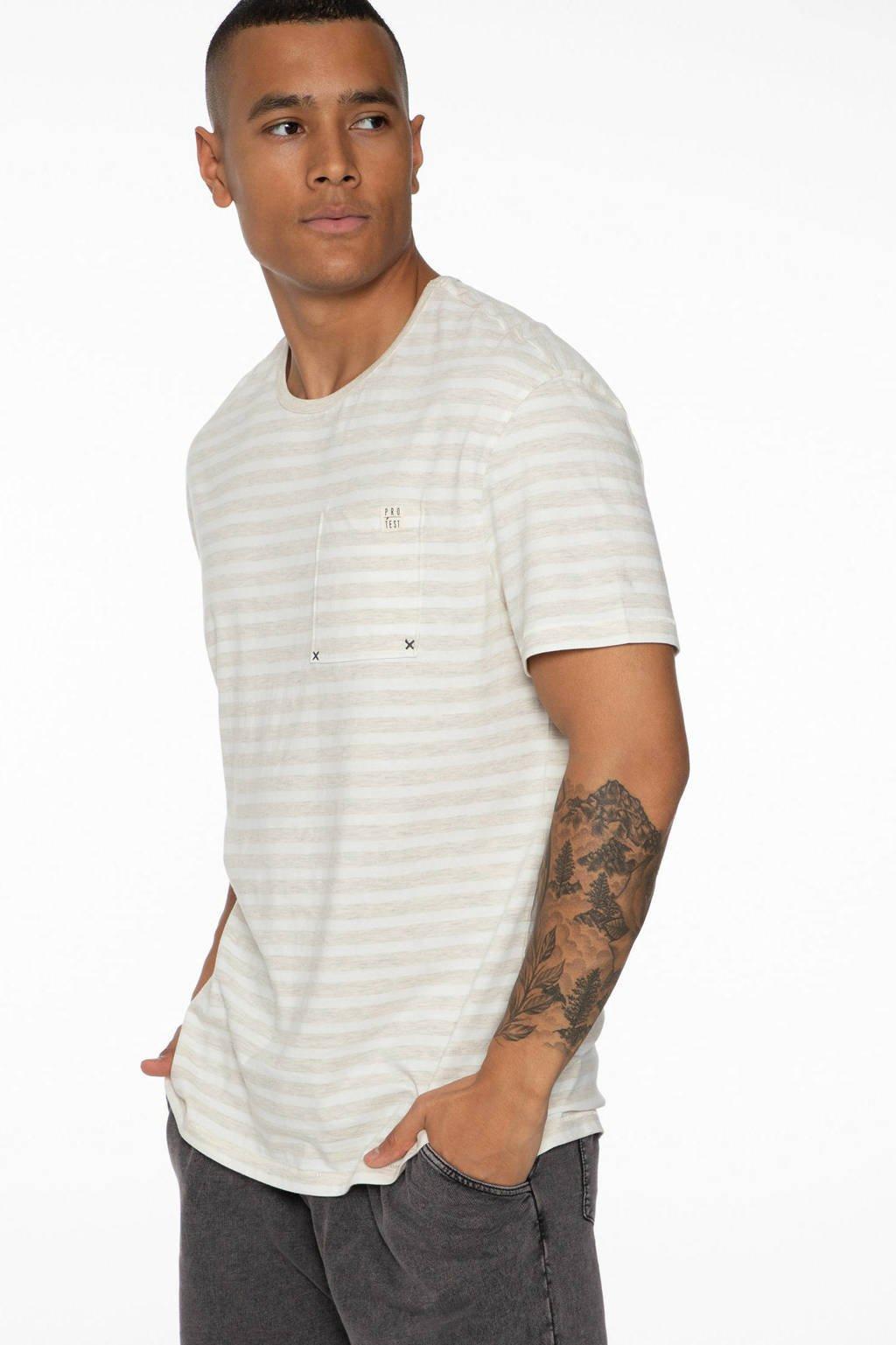 Protest T-shirt Theft off-white/beige, Off-white/beige