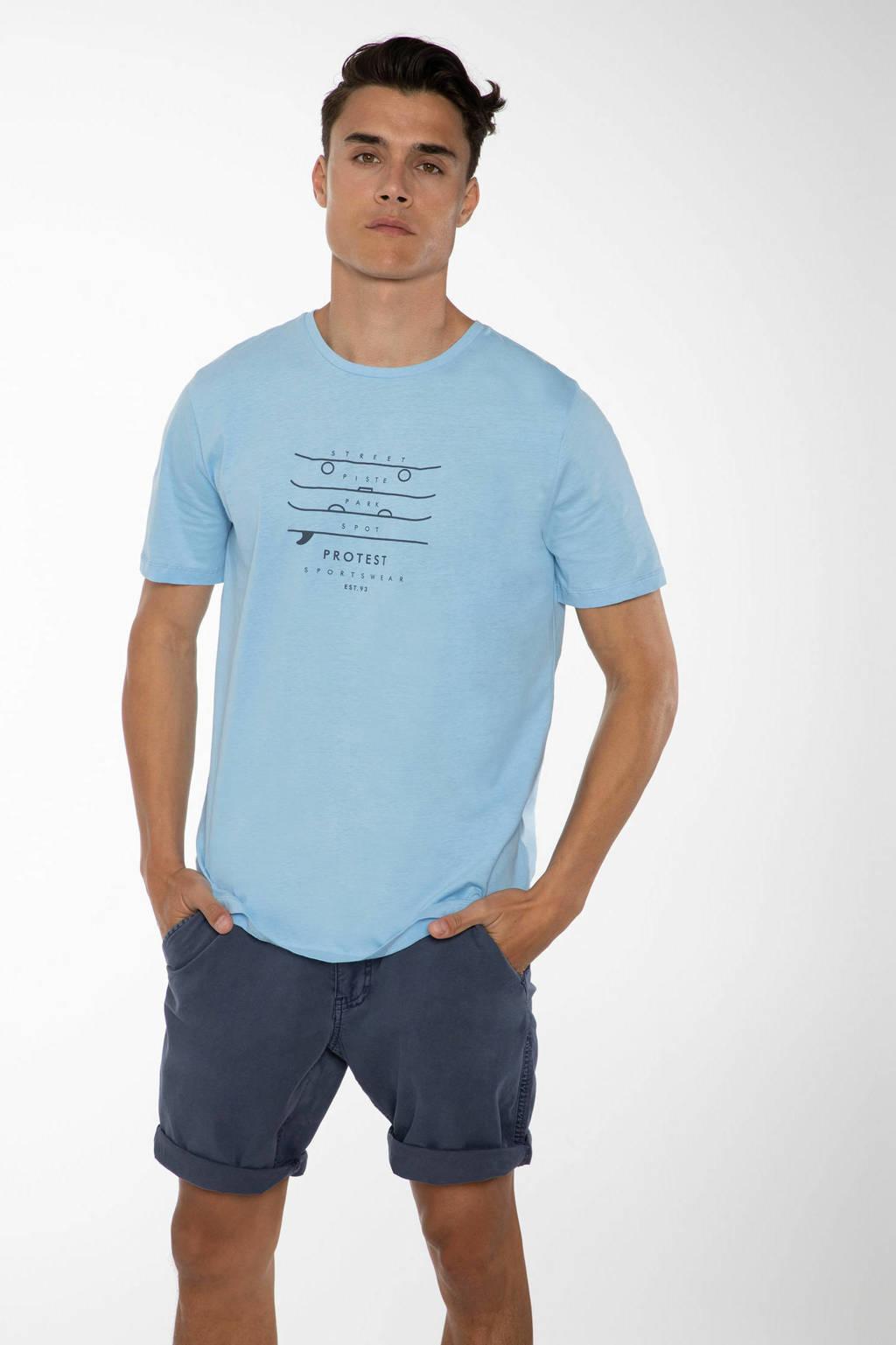 Protest T-shirt Harwell lichtblauw, Lichtblauw