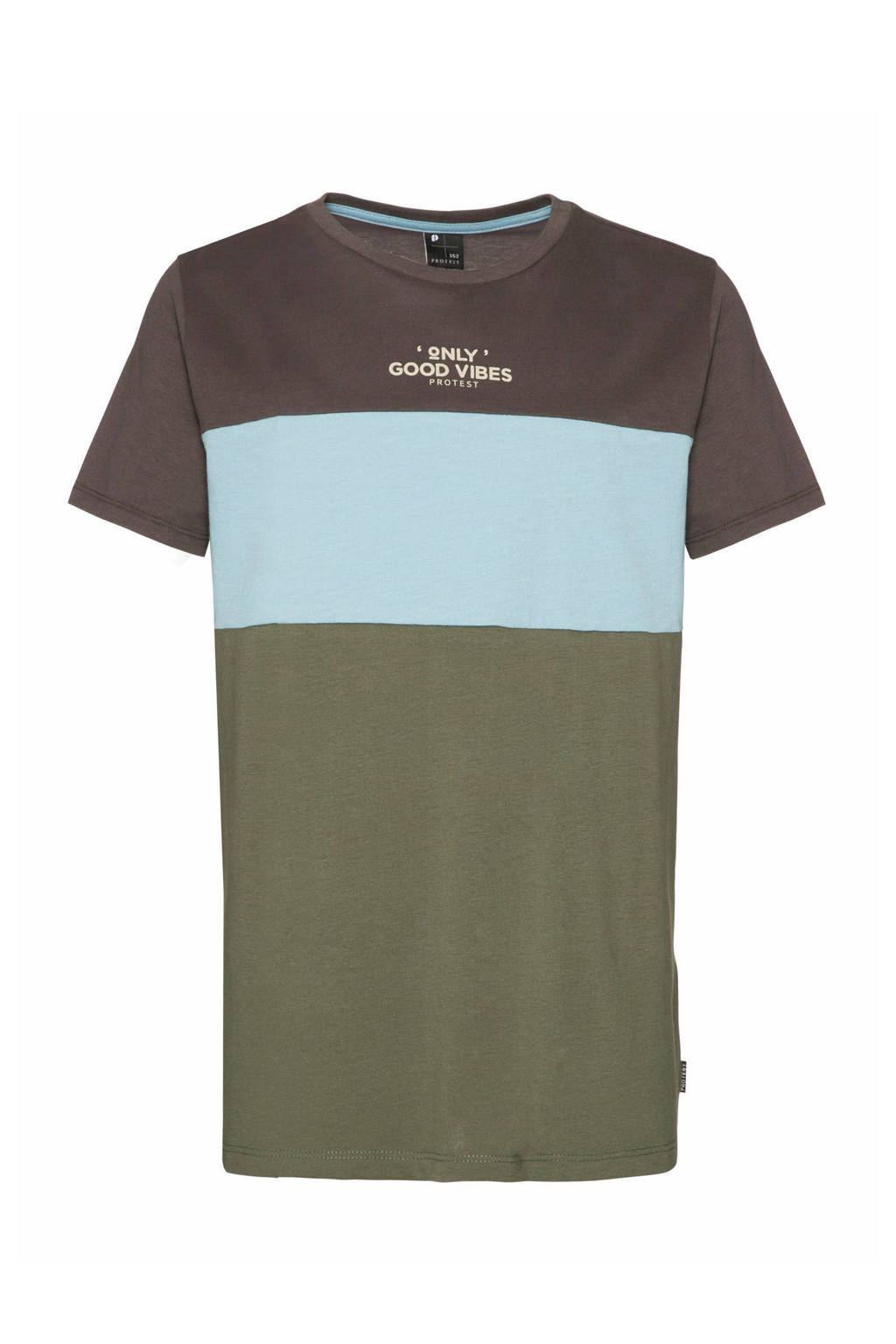 Protest T-shirt Nino donkergrijs/blauw/groen