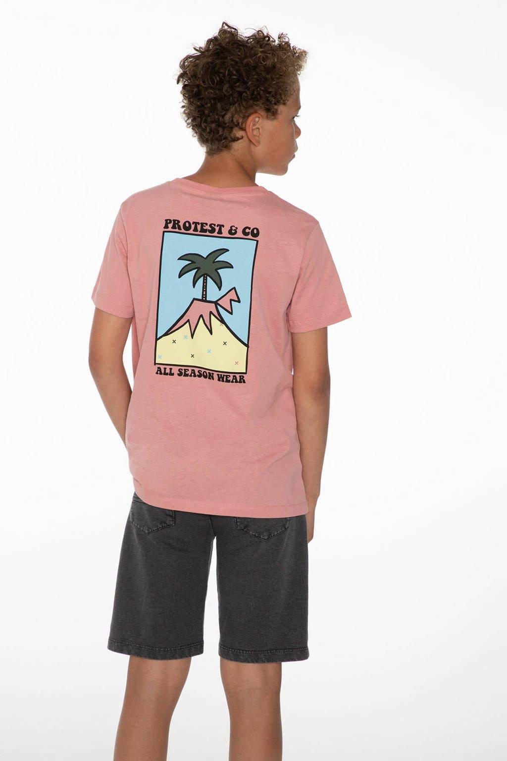 Protest T-shirt Blaze roze, Silver Pink