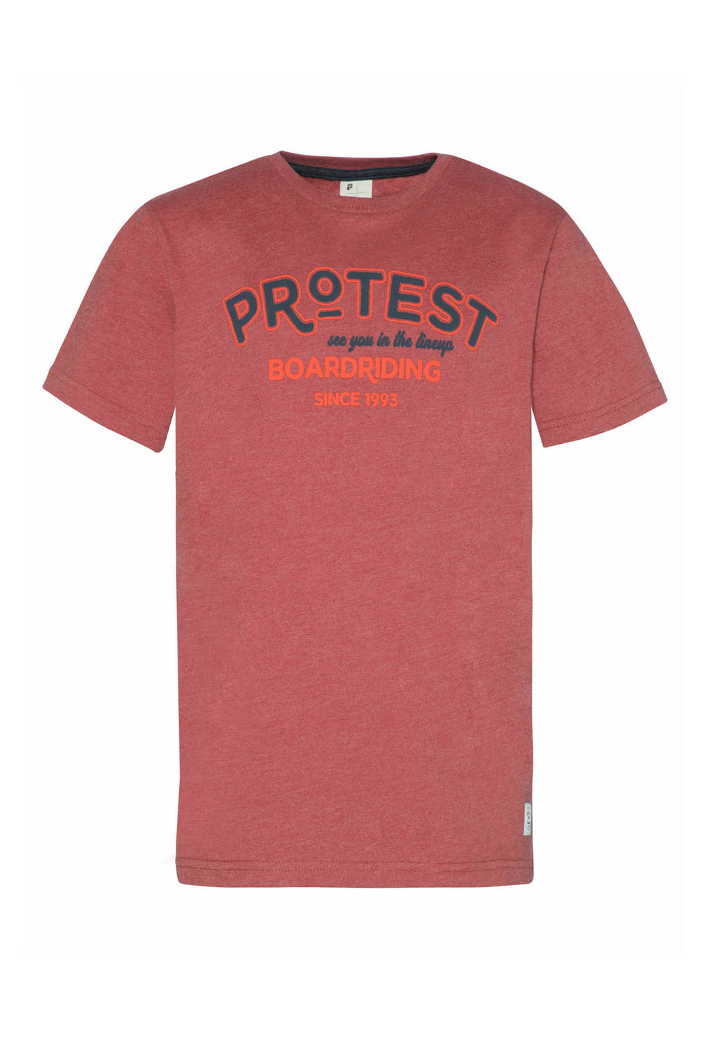 Protest T-shirt Lucas rood, Rood