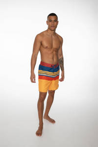 Protest boardshort Baxter geel/blauw/rood, Mellow Yellow