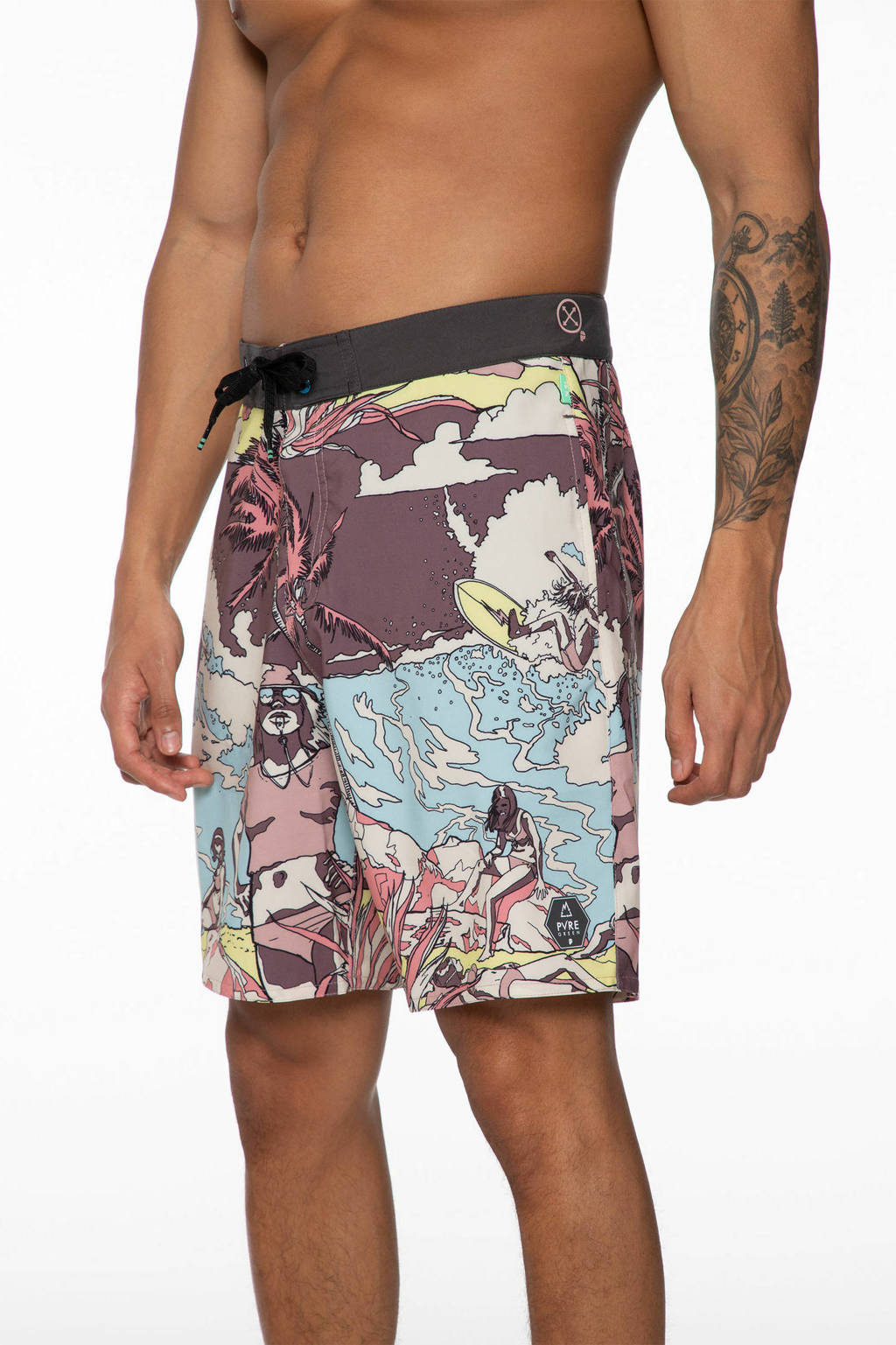 Protest zwemshort Perry paars/lichtblauw, Mauve