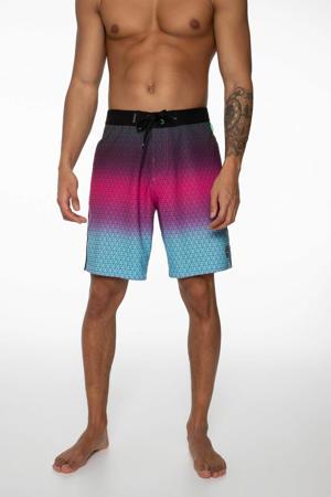 boardshort Orion roze/blauw/grijs