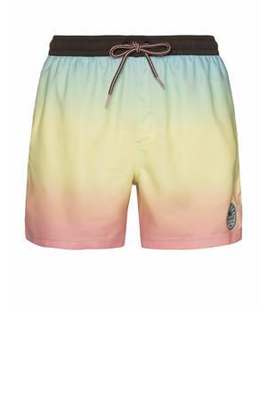 zwemshort Quintin geel/roze/blauw