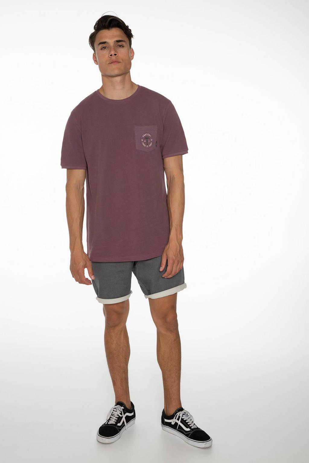 Protest T-shirt Faz paars, Marron Fabric
