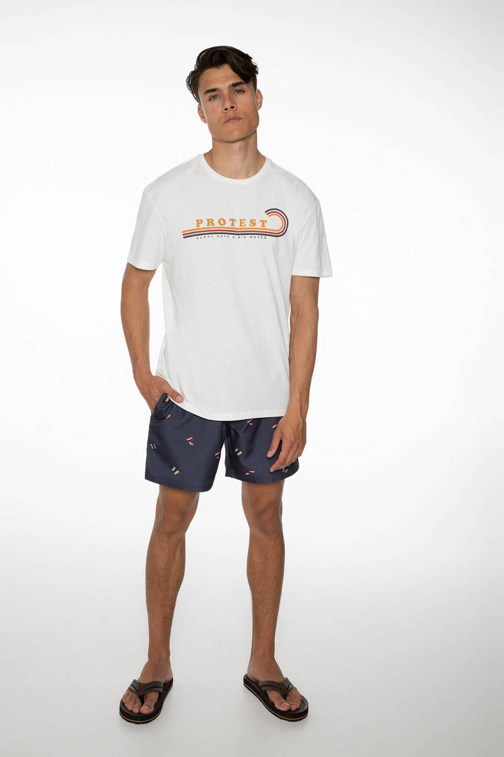 Protest T-shirt Twain wit, Seashell