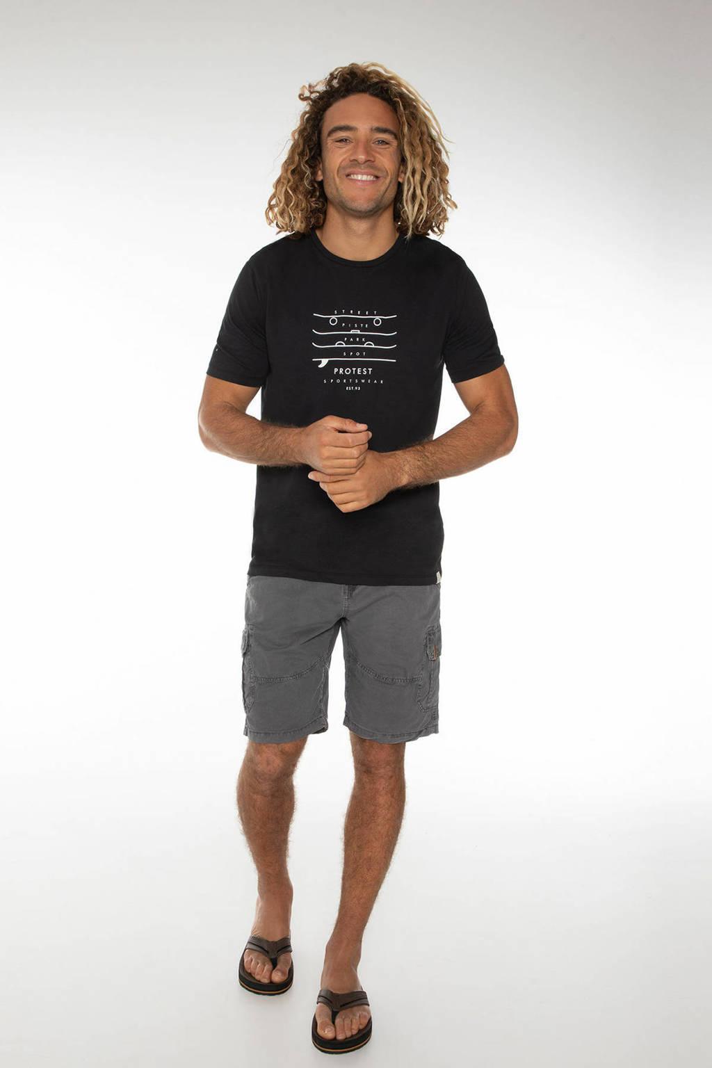 Protest T-shirt Harwell zwart, Zwart
