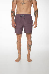 Protest gestreepte zwemshort Sharif paars, Marron Fabric