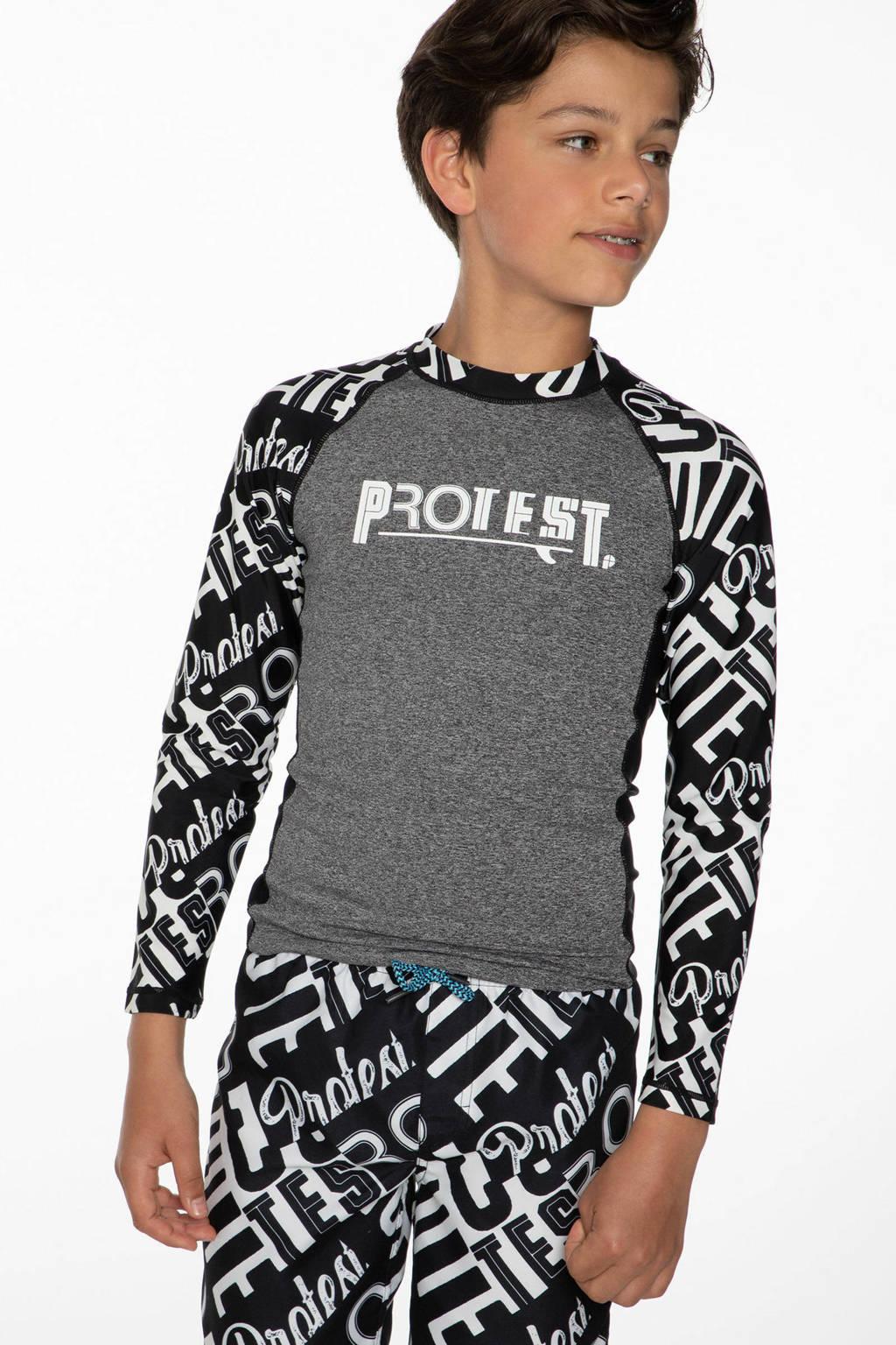 Protest UV T-shirt Risso zwart/grijs, True black