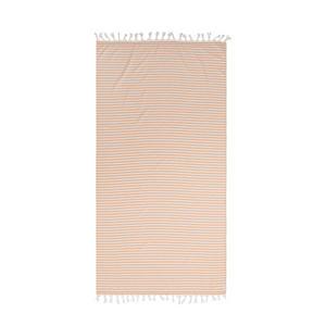 gestreept strandlaken Tholav geel/wit (90x180 cm)