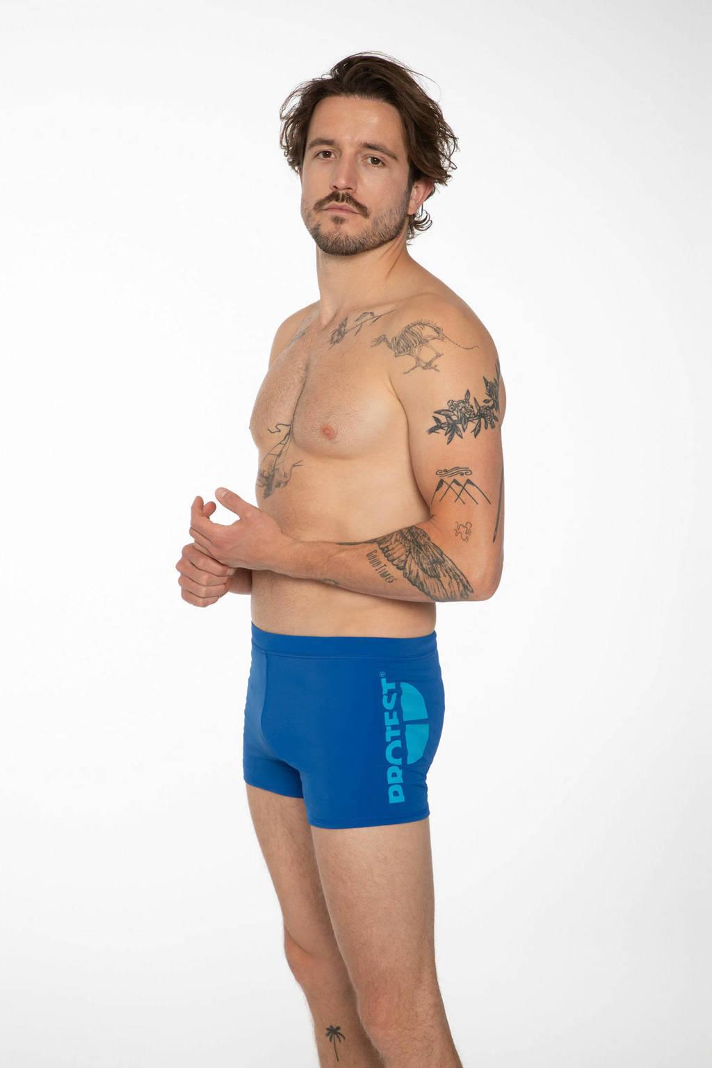 Protest zwemboxer Carst blauw, True Blue