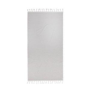 gestreept strandlaken Tholav grijs/wit (90x180 cm) True Black