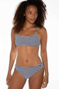 Protest gestreepte crop bikini Hailey donkerblauw/wit, Indigogo
