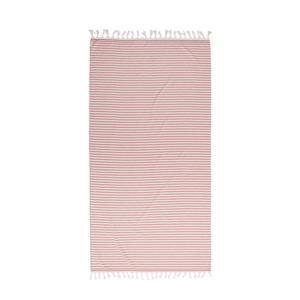 gestreept strandlaken Tholav rood/wit (90x180 cm) Clay