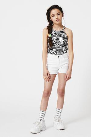 slim fit jeans short Nila white demin