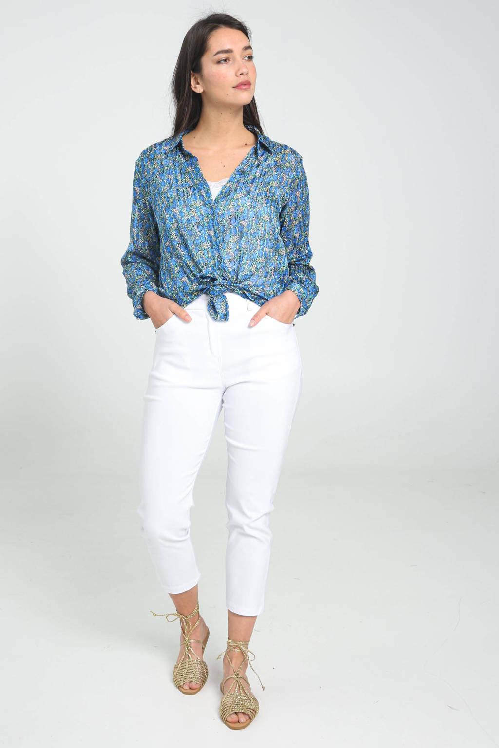 Cassis gebloemde blouse blauw, Blauw