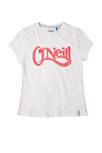 O'Neill Blue T-shirt Waves met logo wi/rood, Wi/rood