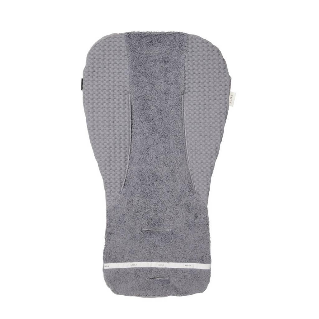 Koeka inlegkussen autostoel/wipstoel/buggy wafelstof steel grey, Steel grey
