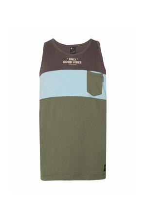 singlet Rosco grijs/blauw/groen