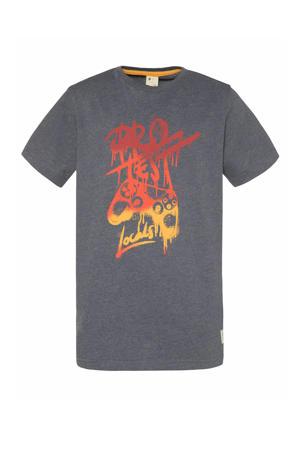T-shirt Dwight blauw