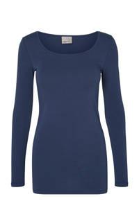 VERO MODA T-shirt VMMAXI met biologisch katoen donkerblauw, Donkerblauw