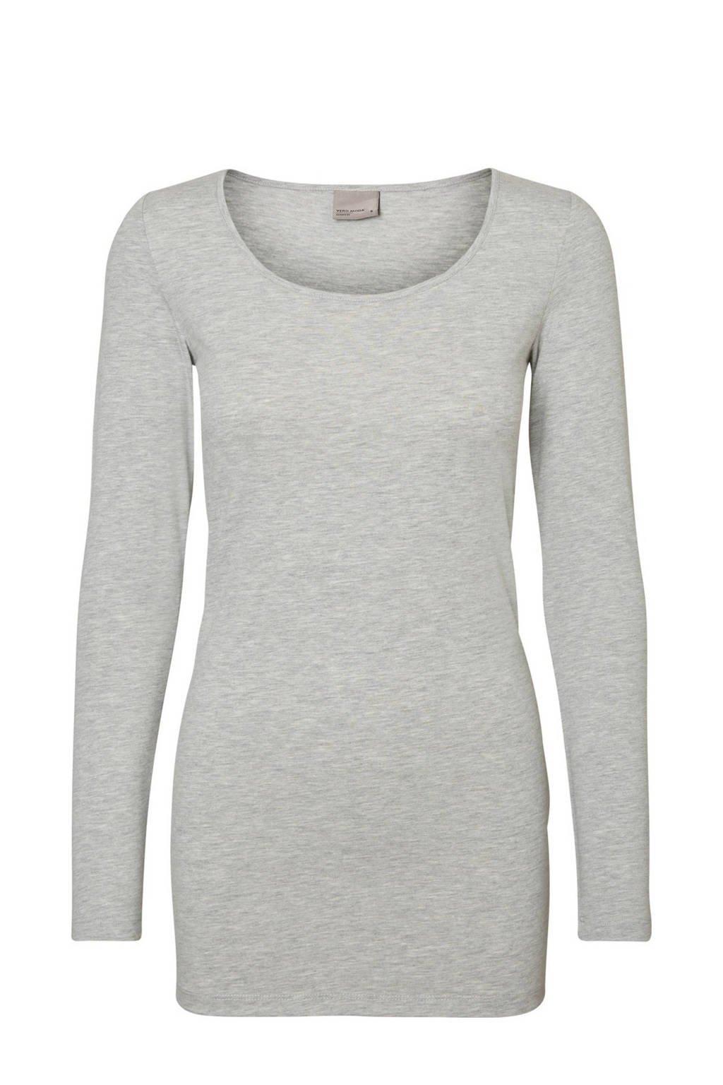 VERO MODA T-shirt VMMAXI met biologisch katoen grijs, Grijs