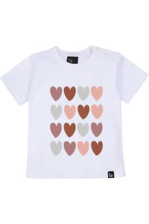 T-shirt met hartjes wit/roze/grijs