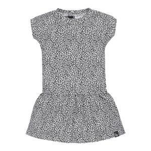 jurk met dierenprint zwart/wit