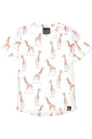 T-shirt met dierenprint wit/bruin