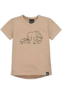 Babystyling T-shirt met dierenprint camel, Camel