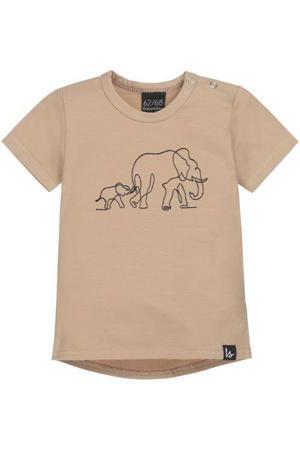 T-shirt met dierenprint camel