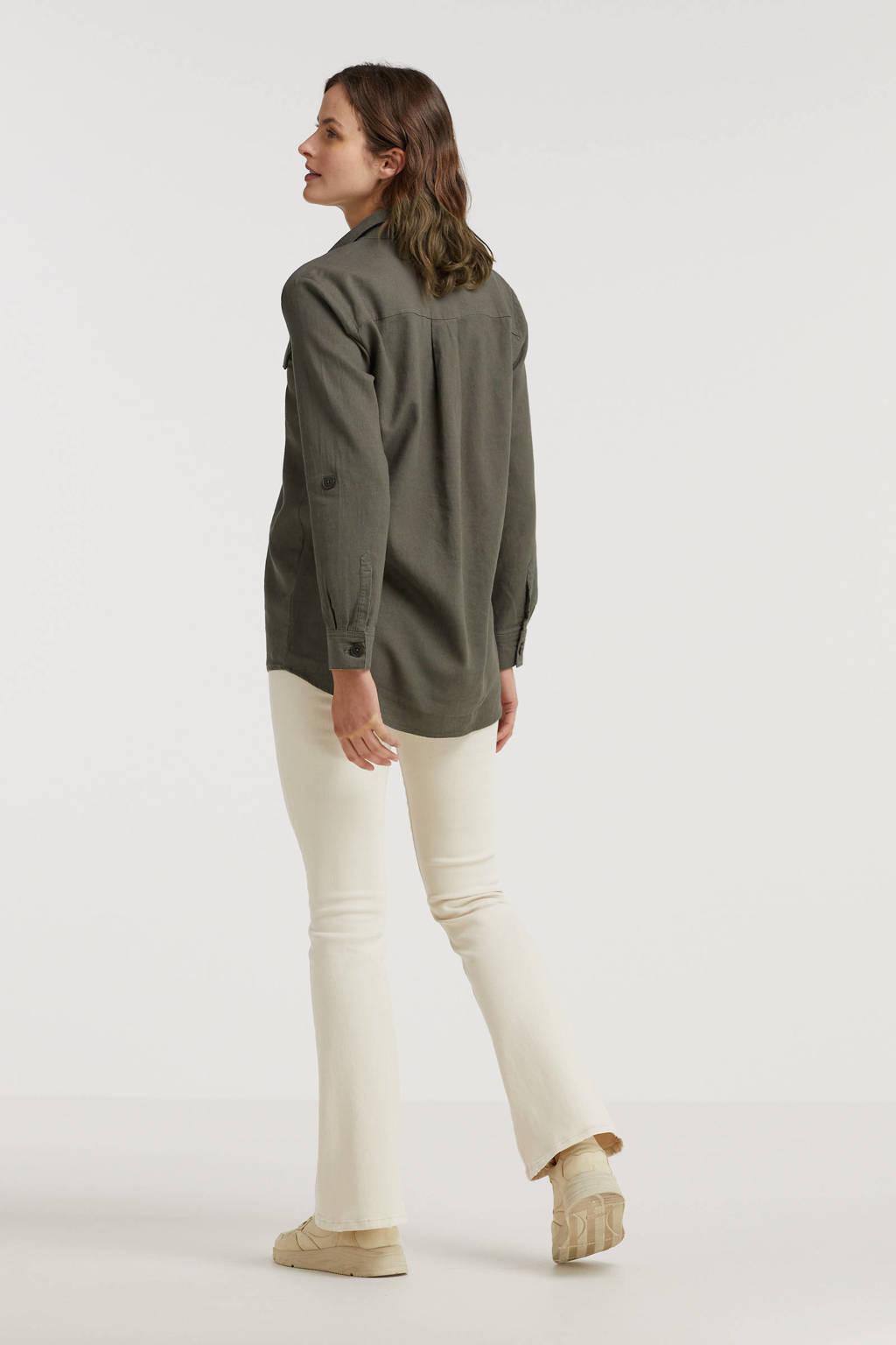 FREEQUENT blouse FQLAVA-SH olijfgroen, Olijfgroen