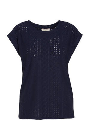 top FQBLOND-TEE donkerblauw