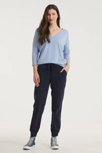 FREEQUENT fijngebreide trui FQJONE-V-PU lichtblauw, Lichtblauw