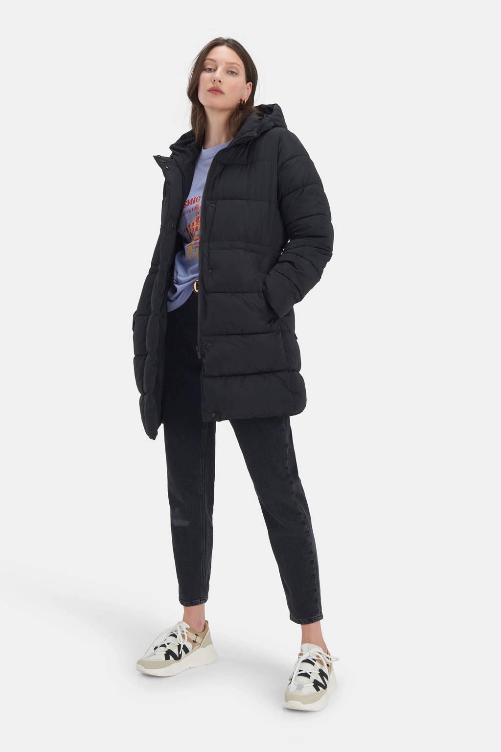 Shoeby Eksept gewatteerde jas Sight zwart, Zwart