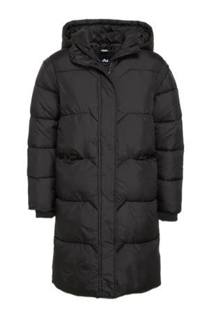 gewatteerde winterjas Travel zwart
